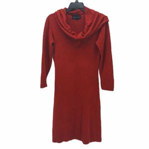 Connected Apparel Womens Sweater Dress Red Size M